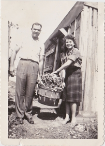 My mother Dahlia with her brother Joe Fiore, aka the Bull.